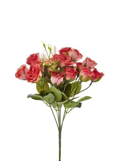 The Mia Yapay Çiçek Demet Gül Pembe Pembe